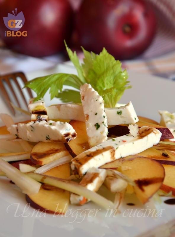insalata di nettarine, sedano bianco e formaggio alle erbe (2)