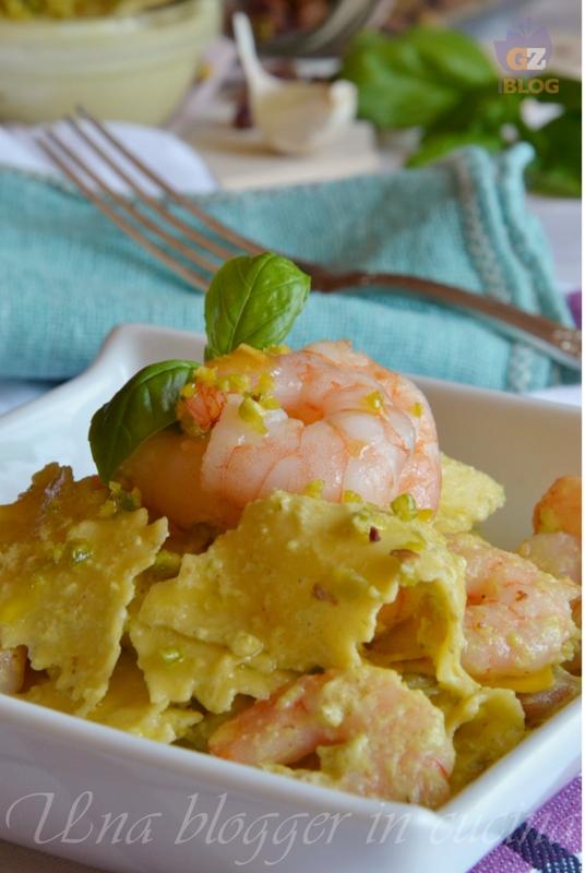 maltagliati al pesto di pistacchi e mazzancolle (2)