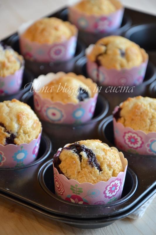 Muffin farro e mirtilli (1)