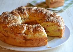 Ciambella di pan brioche salata