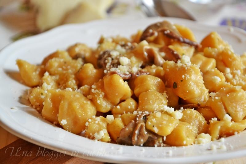 gnocchi di zucca con funghi porcini (4)