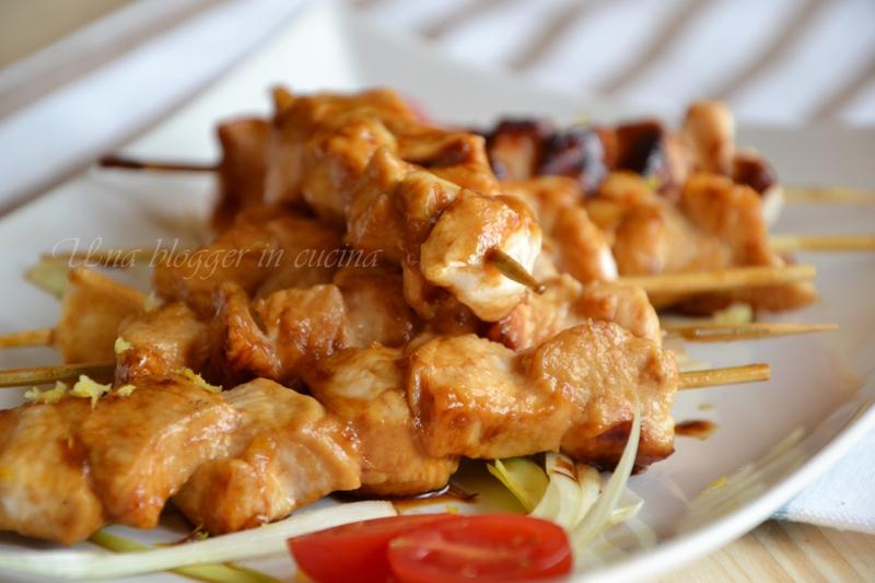 spiedini di pollo caramellati (3)