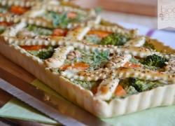 Crostata salata verdure e noci