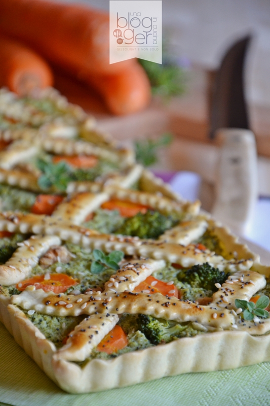 crostata salata broccoli carote porri (9)