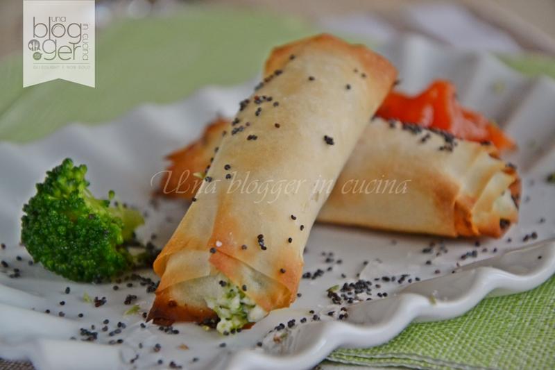 involtini di phyllo con caprino e broccoli (7)