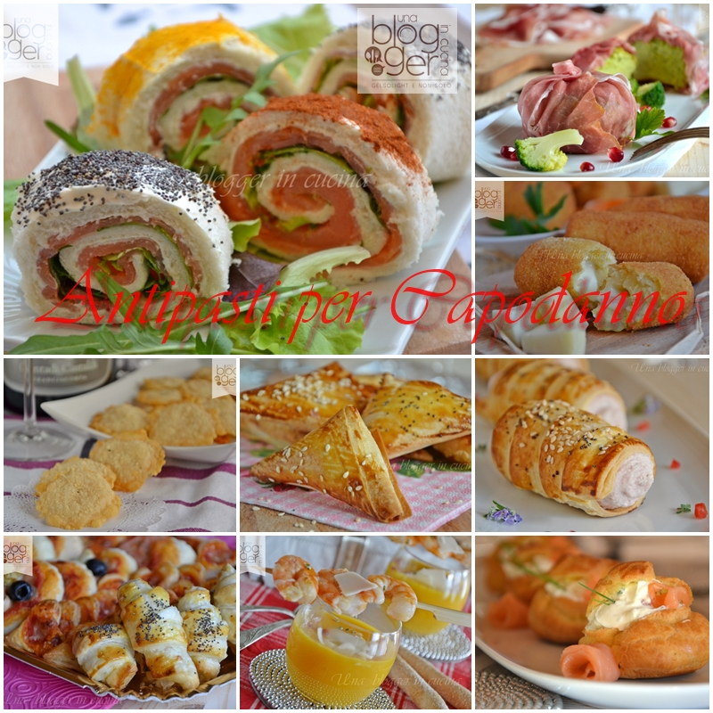 Antipasti per Capodanno collage