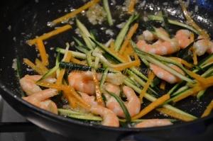 tagliolini verdi gamberi zucchine e zucca (3)