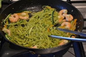 tagliolini verdi gamberi zucchine e zucca (4)
