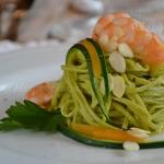 tagliolini verdi gamberi zucchine e zucca (5)
