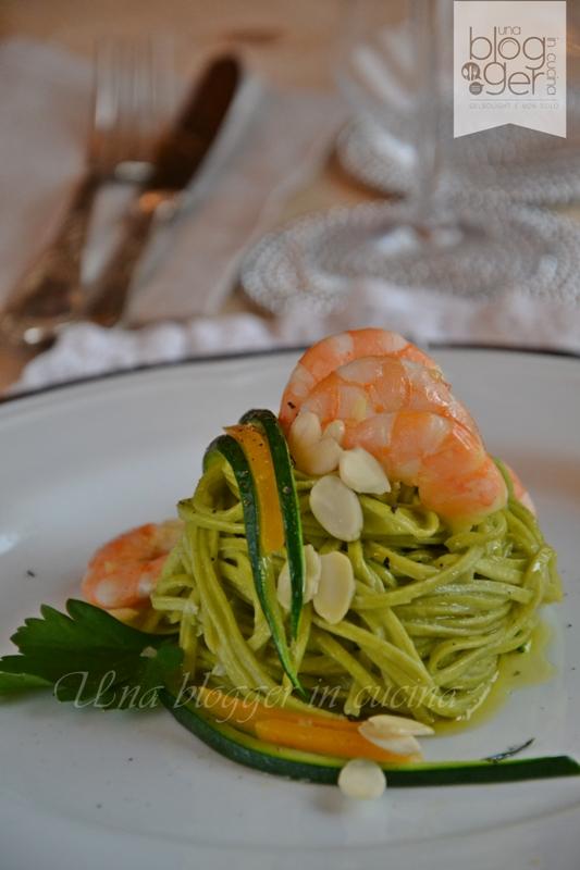 tagliolini verdi gamberi zucchine e zucca (6)