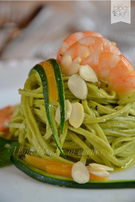 tagliolini verdi gamberi zucchine e zucca (8)