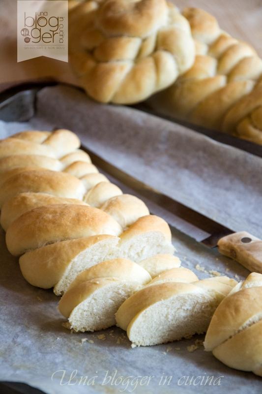 treccia a sei capi pane fette