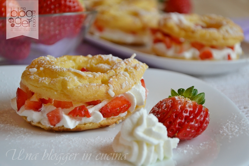 Mini Paris Brest chantilly e fragole (1)