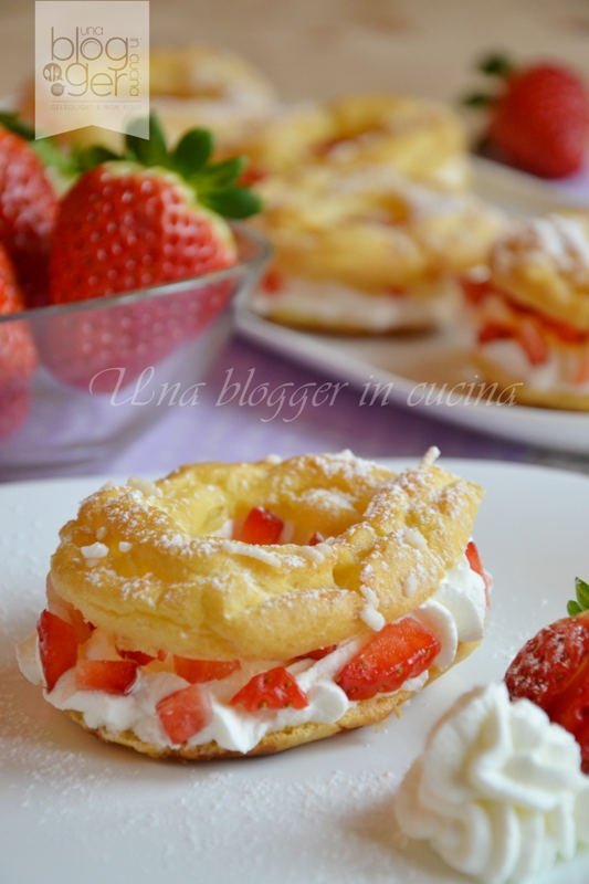Mini Paris Brest chantilly e fragole (3)