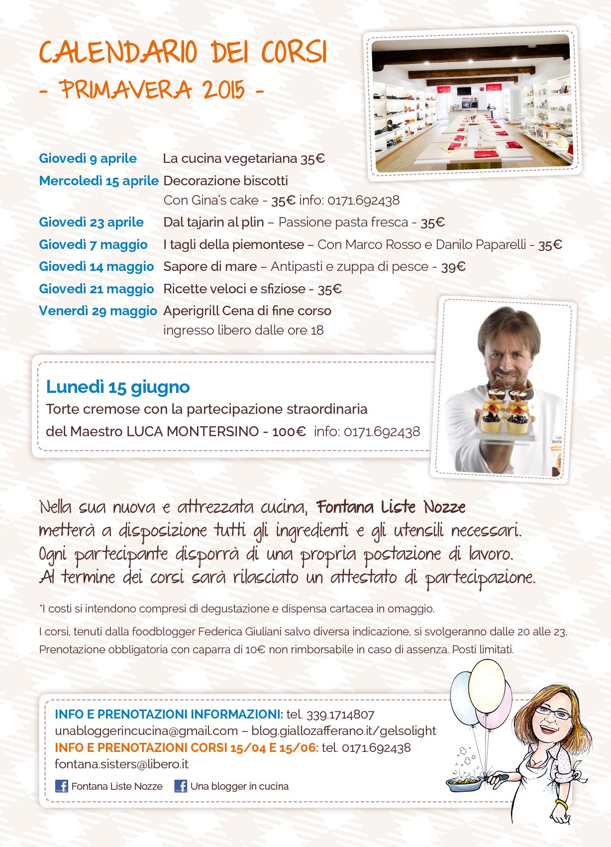 Corsi di cucina 2015 presso fontana liste nozze cuneo - Corsi cucina cuneo ...