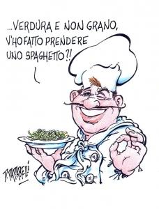 vignetta per spaghetti verdura