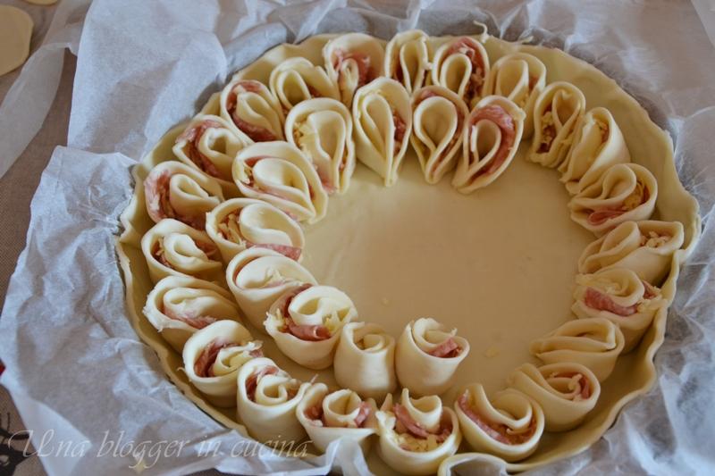 Decorazioni Torte Salate : Torta salata a fiore