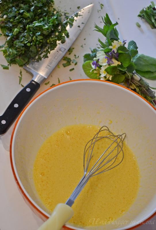 Omelette con primule e erbe di montagna (1)