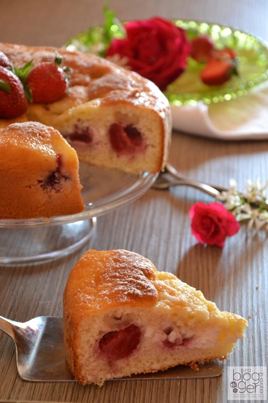 Torta ricotta e fragole (6)