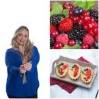 collage barchette frutti rossi