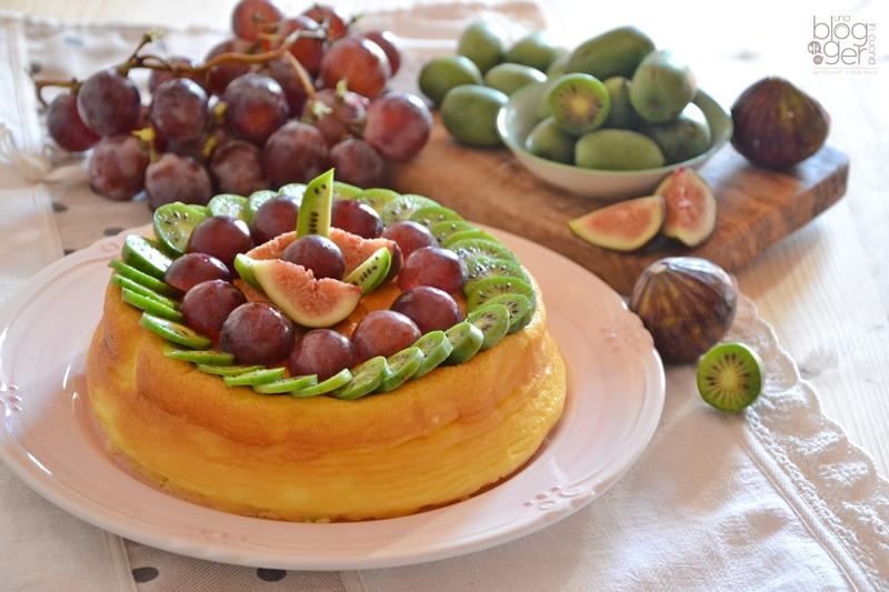 Soufflè cheesecake con nergi e frutta (4)