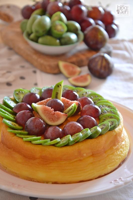 Soufflè cheesecake con nergi e frutta (3)