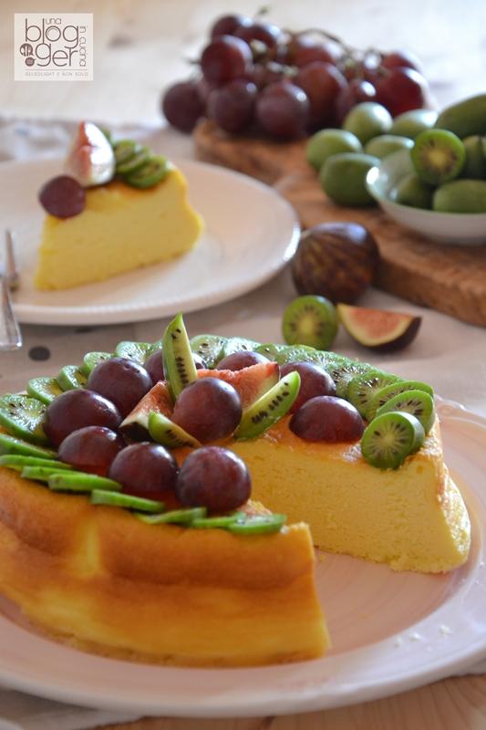 Soufflè cheesecake con nergi e frutta (5)