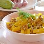 pasta risottata salsiccia zucchine e zafferano (2)