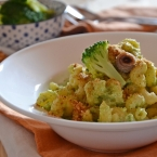 Pasta ammolliccata con crema di broccoli e alici (2)