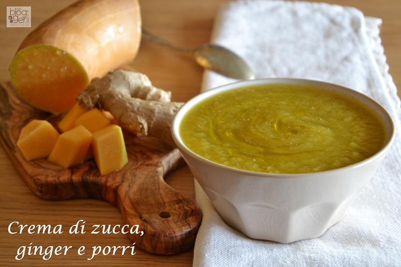 crema di zucca, porri e zenzero (2)