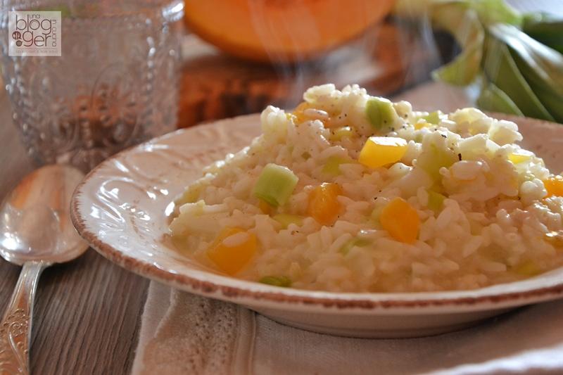 risotto zucca porri e gorgonzola (2)