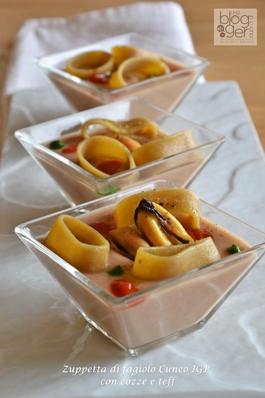 zuppetta di fagiolo cuneo igp con cozze e calamarata di teff (2)