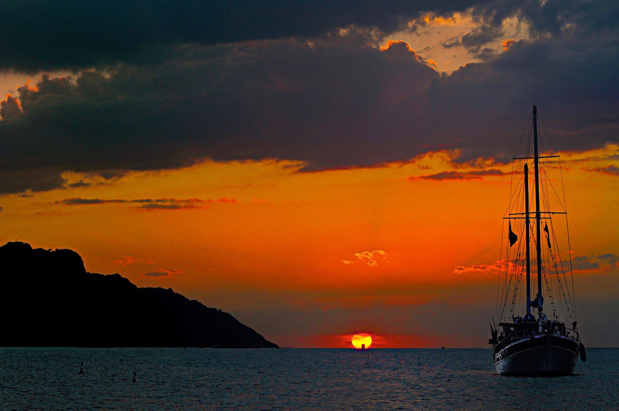 caicco tramonto