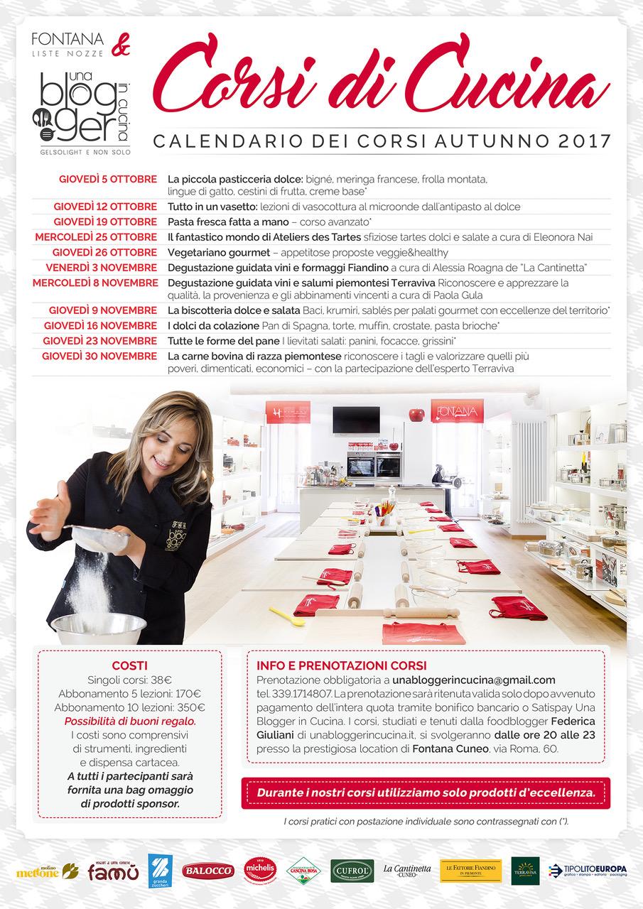 Calendario corsi di cucina 2017 - Corsi cucina cuneo ...