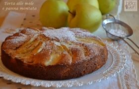 Torta alle mele con panna montata