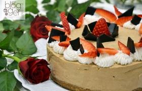 Cheesecake al caffè senza cottura, idea San Valentino