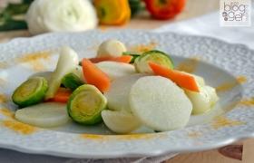 Spadellata di daikon e verdure