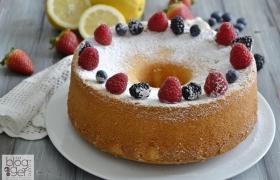 Chiffon cake limone e frutti rossi