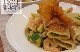 Paccheri gamberi e zucchine, con mini-video!