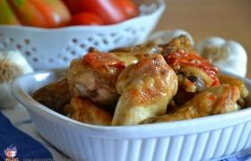 Pollo in potacchio, ricetta marchigiana