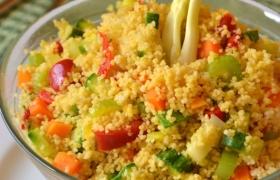 Insalata di cous cous verdure e zafferano, ricetta fredda