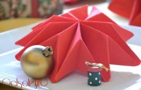 Piegare i tovaglioli per Natale con videotutorial