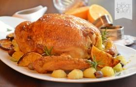 Pollo ripieno delle feste