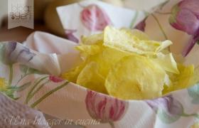Chips di patate al microonde, ricetta light