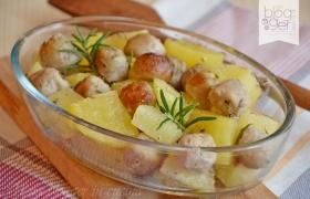 Perle di salsiccia e patate al forno