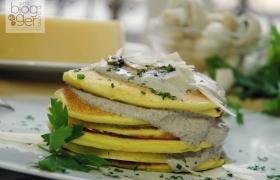 Pancakes salati con crema di champignon
