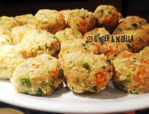 Crocchette di quinoa e vedure