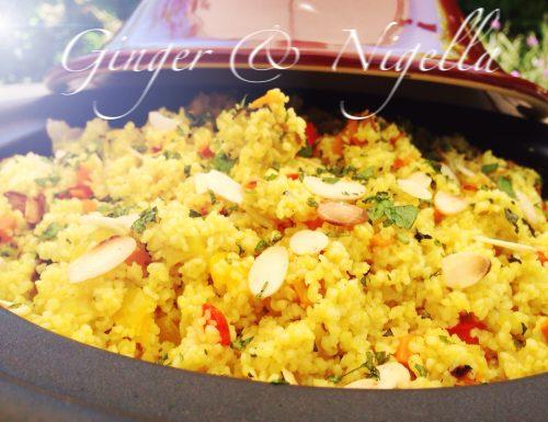 Couscous vegetariano di Timilia profumato alla curcuma