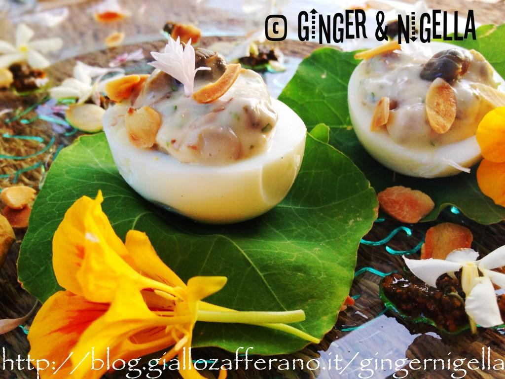 Uova sode con maionese vegana