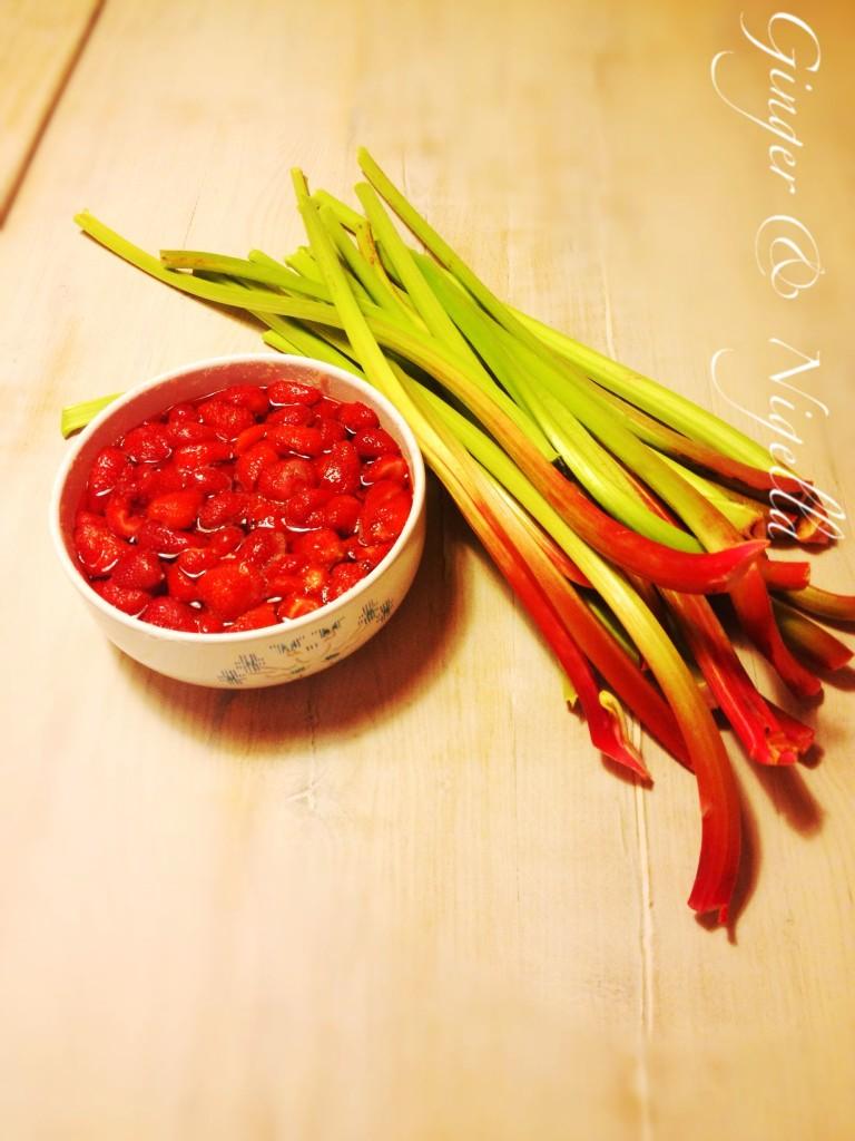 Marmellata di rabarbaro e fragole, rabarbaro, fragole, ferber